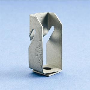 "Erico Caddy 123 Z Purlin Clip, Hammer-on clip, 1/4"" Hole to Z Purlin, Steel"
