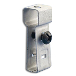 """Erico Caddy 4ACS Conduit/Box to T-Grid Support, 1/4"""" Hole, Threaded, Steel"""
