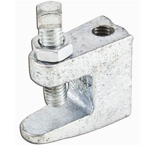 "Erico Caddy BC260025EG Heavy Duty Reversible Beam Clamp, Rod Size 1/4"", Max 3/4"" Flange"