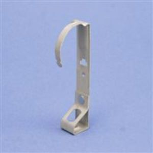 "Erico Caddy DH4TI Hanger for Threaded Rod, Type: Floor Deck, 1/4"" Hole, Material: Steel"