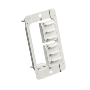 "Erico Caddy MP1P Mounting Bracket, 1-Gang, Fits 1/4 to 1-1/4"" Drywall, Non-Metallic"