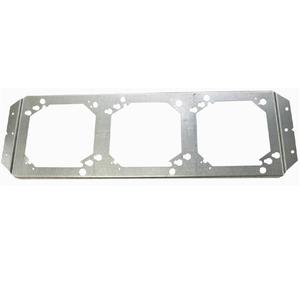 """Erico Caddy RBS16 Box Mounting Brackets, 4"""" and 4-11/16"""" Square, 3-Gang, Steel"""