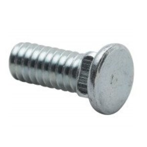 Erico Caddy S31199P100 Flat Head Carriage Bolt, Steel, 1/4""
