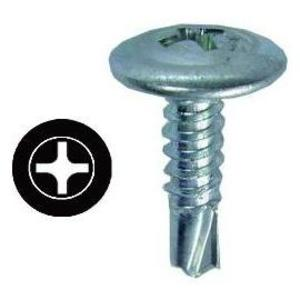 Erico Caddy SMS8 Self-Drill Screw, Wafer Head, Phillips, 8 x 1/2""
