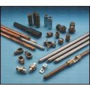 "Erico Cadweld 813400 Ground Rod, Galvanized, Diameter:3/4"", Length: 10'"