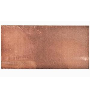 "Erico Cadweld B140A Copper Shim, Dimensions: 0.13"" x 3"" x 1.5""."