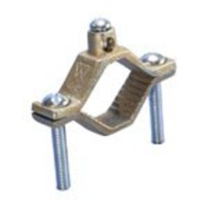"Erico Cadweld CWP2J Ground Clamp, 1-1/4 to 2"", 2 to 10 AWG, Bronze"