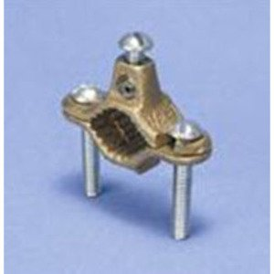 "Erico Cadweld CWP6J Ground Clamp, 4-1/4 to 6"", 4 to 10 AWG, Bronze"