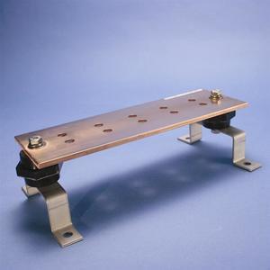 "Erico Cadweld EGBA14212BB Ground Bar Kit, Pattern: BB, Size: 2"" x 12"", Copper"