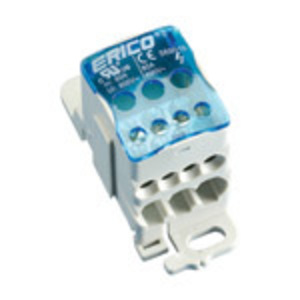 Erico Eriflex 569010 Power Distribution Block, 1 Primary/Multiple Secondary, 600 Volt