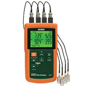 Extech VB500 Vibration Meter, Datalogger, 4-Channel