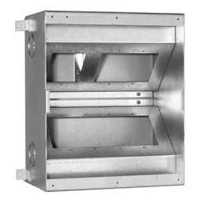 "FSR FL-500-P6 Floor Box, 10 x 12 x 6"", (12) 1"" and/or 1/4"" Knockouts, Steel"