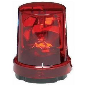 Federal Signal 121S-120R Beacon, Rotating, Incandescent, Red, Voltage: 120V AC