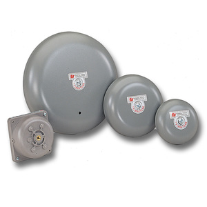 "Federal Signal A4 Vibrating Bell, Diameter: 4"", Gray, Metallic"