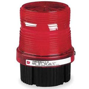 Federal Signal FB2PST-120R Strobe Beacon, Strobe, Red, Voltage: 120V AC