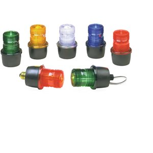 Federal Signal LP3M-120R Beacon, Type: Strobe/Low Profile, 120VAC, 0.10A, Pipe Mount 1/2""