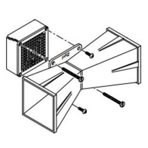 """Federal Signal PR2 Double Projector, Mounts to Basic Model Units, 4"""" x 11-1/2"""" x 4"""""""