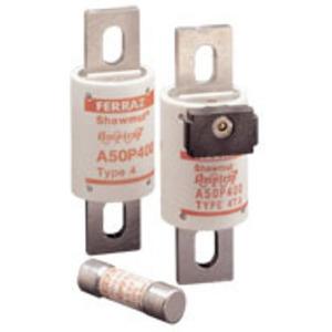Ferraz A50P600-4 Fuse, 600A, 200VAC, P Style, Semi-Conductor, Bolt On, Blades