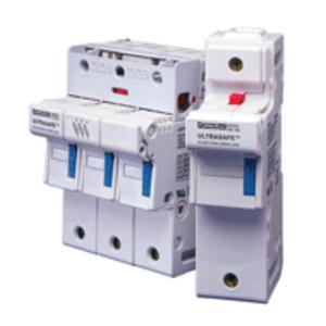 Ferraz US142M Fuse Holder, Ultrasafe, 50A, 750V AC/DC, 200kAIC, 2P, 14x51mm