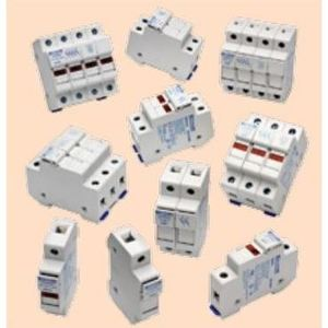 Ferraz USM3 Fuse Holder, Class M, 3P, 30A, 800VAC, 1000VDC, DIN Rail Mount