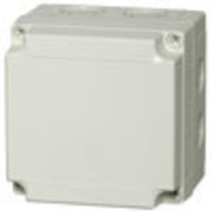 Fibox ULPCM125/100G Junction Box, Screw Cover, 130 x 130 x 100mm, NEMA 4X, Polycarbonate