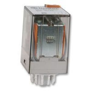 Finder Relays 60.13.9.024.0040 Relay, Ice Cube, Miniature, 11-Pin, 10A, 3P, 24VDC Coil, w/ Option