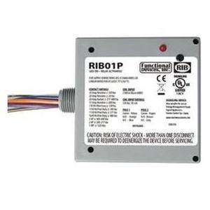 Functional Devices RIB01P Relay, Power Control, 20A, DPDT, 120VAC Coil, Enclosed, NEMA 1