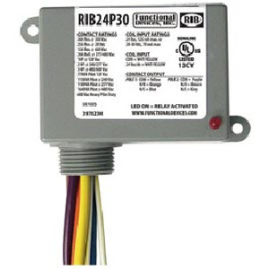 Functional Devices RIB24P30 ENCLOSED RELAY 30 AMP