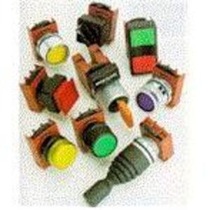 "GE Industrial CR104PBM01R5C Push Button, Push-Pull, Red, 1-3/8"" Mushroom, 1NO/NC, Contact block"
