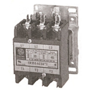 GE Industrial CR353AC4AA1 Contactor, Definite Purpose, 30A, 4P, 120VAC Coil
