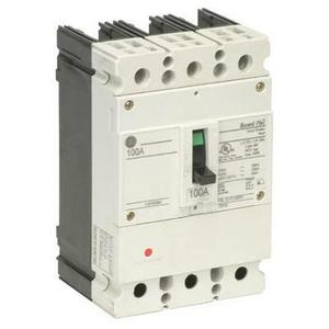 GE Industrial FBV36TE040RV Breaker, Molded Case, 40A, 3P, 600Y/347VAC, 22kAIC, Record Plus