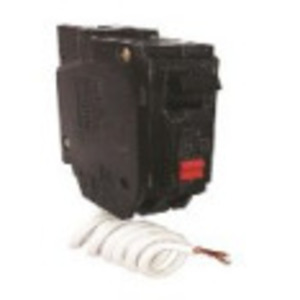 GE Industrial THQB1120GFT Breaker, 20A, 1P, 120/240VAC, 10kAIC, Bolt-On, GFCI, Self Test