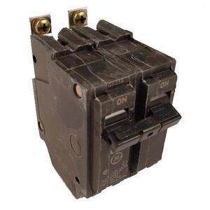 GE Industrial THQB2120 Breaker, 20A, 2P, 120/240V, Q-Line Series, 10 kAIC, Bolt-On