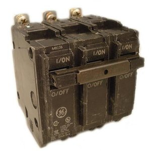 GE Industrial THQB32100 Breaker, 100A, 3P, 120/240V, Q-Line Series, 10 kAIC, Bolt-On