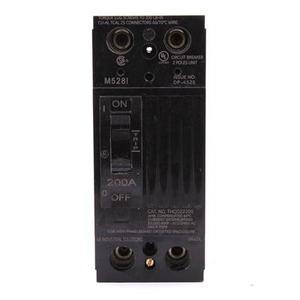 GE Industrial THQD22200WL Breaker, 200A, 2P, 240V, Q-Line, 22 kAIC, Lug In/Lug Out, w/Lugs