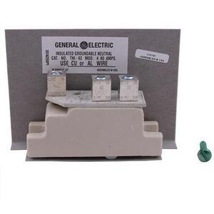 GE Industrial TNI62 Neutral Kit, 30A, 600VAC, 12AWG to 2 AWG, Cu/Al