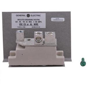 GE Industrial TNI63 Neutral Kit, 100A, 600VAC, 10AWG to 1/0 AWG, Cu/Al