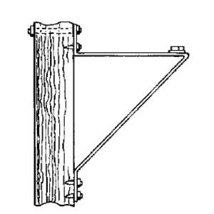 GE Lighting WPB-002 Wood Pole Angle Bracket