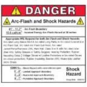 GE 10091352G1 ARC FLASH LABEL