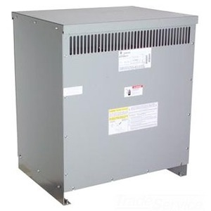 GE 9T83K3894 Transformer, Dry Type, 75KVA, 600V Primary, 208Y/120V Secondary