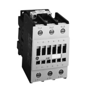 GE CL45A310MJS Contactor, IEC, 34A, 460VAC, 3P, 120VAC Coil, 1NO Auxiliary Contact