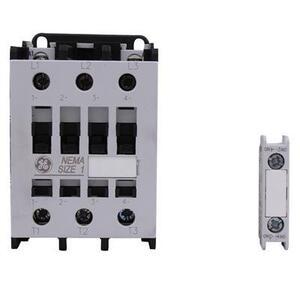 GE CLNCJ Contactor, IEC, 34A, 460V, 3P, 120VAC Coil, 1NO Auxiliary