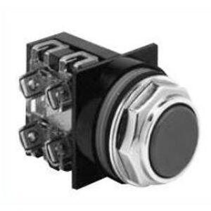 GE CR104PBG00U1 Push Button, Flush Head, Red, Green, Yellow, Black, Operator Only