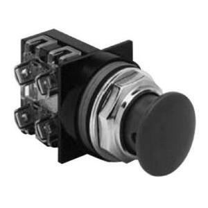 GE CR104PBM91R5 Push Button, Red Mushroom, Momentary, 1NO/NC Contact, 10A, 600V