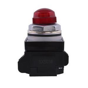 GE CR104PLG22R Indicating Light, 30mm, 120VAC Full Voltage, Red, Incandescent