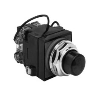 GE CR104PLT22G Pilot Light, Push to Test, 30mm, Green, 120VAC, 130V Incandescent