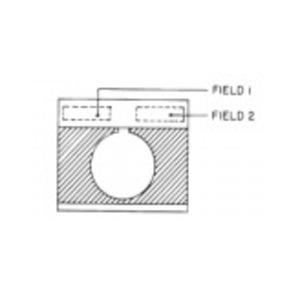 GE CR104PXN1BF001 Nameplate, 30mm, Black/Gray, Metal, Non-Standard Engraved