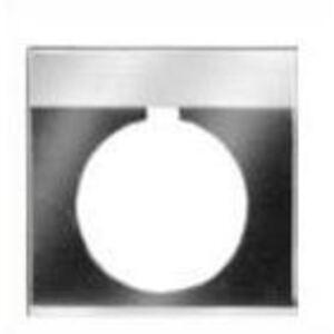 GE CR104PXN1BP030 Nameplate, 30mm, Black/Gray, Metal, Black Text (RESET)