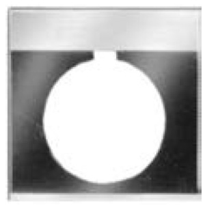 GE CR104PXN1BP070 Nameplate, 30mm, Black/Gray, Metal, Black Text (HAND OFF AUTO)