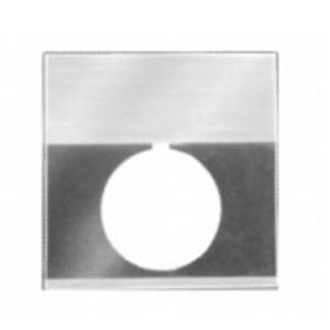 GE CR104PXN3BP037 Nameplate, 30mm, Black/Gray, Metal, Black Text (START)